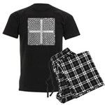 Celtic Square Cross Men's Dark Pajamas