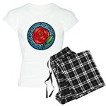 Celtic Rose Stained Glass Women's Light Pajamas