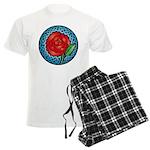 Celtic Rose Stained Glass Men's Light Pajamas