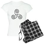 Celtic Triple Spiral Women's Light Pajamas