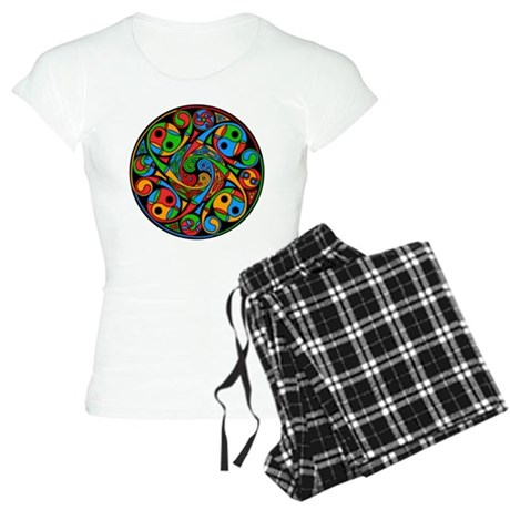 Celtic Stained Glass Spiral Women's Light Pajamas