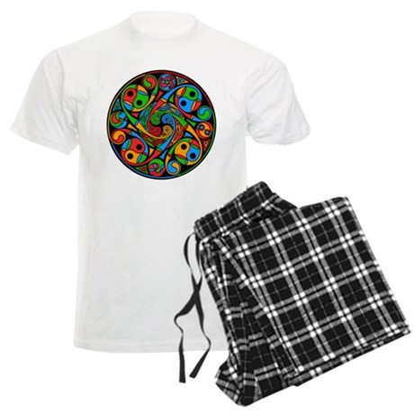 Celtic Stained Glass Spiral Men's Light Pajamas