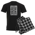 Celtic Knotwork Quasar Men's Dark Pajamas