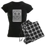 Celtic Knotwork Heart Women's Dark Pajamas