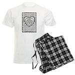 Celtic Knotwork Heart Men's Light Pajamas