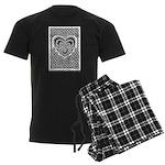 Celtic Knotwork Heart Men's Dark Pajamas