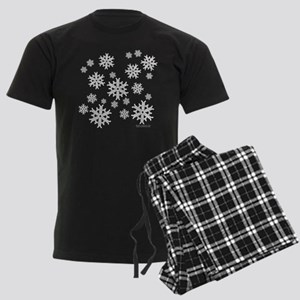 Celtic Snowflakes Men's Dark Pajamas