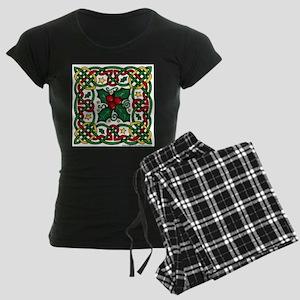 Celtic Garland & Holly Women's Dark Pajamas