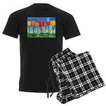 Tulip Trees Men's Dark Pajamas