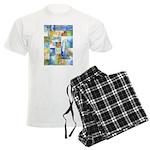 Slated Watercolor Men's Light Pajamas
