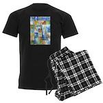 Slated Watercolor Men's Dark Pajamas