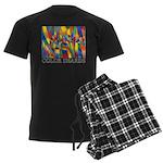 Color Shards Men's Dark Pajamas