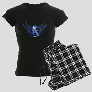 Awareness Tribal Blue Women's Dark Pajamas