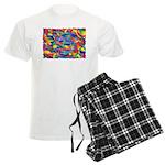 Cosmic Ribbons Men's Light Pajamas