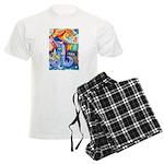 Surreal Seascape Watercolor Men's Light Pajamas