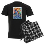 Surreal Seascape Watercolor Men's Dark Pajamas
