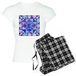 Blue Quilt Watercolor Women's Light Pajamas
