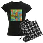 Color Square Abstract 1 Women's Dark Pajamas