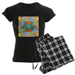 Sacred Geometry Watercolor Women's Dark Pajamas
