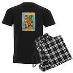 Autumn Quilt Watercolor Men's Dark Pajamas