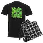 Through the Leaves Watercolor Men's Dark Pajamas