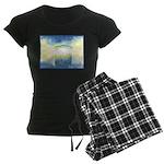 Birthday Box Watercolor Women's Dark Pajamas