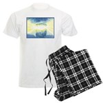 Birthday Box Watercolor Men's Light Pajamas
