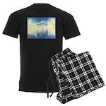 Birthday Box Watercolor Men's Dark Pajamas