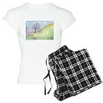 California Tree Watercolor Women's Light Pajamas