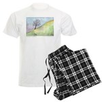 California Tree Watercolor Men's Light Pajamas