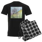 California Tree Watercolor Men's Dark Pajamas