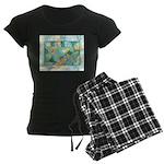 Early Frost Watercolor Women's Dark Pajamas