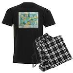 Early Frost Watercolor Men's Dark Pajamas