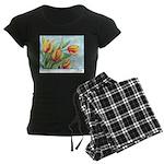 Tulips Watercolor Women's Dark Pajamas