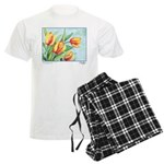 Tulips Watercolor Men's Light Pajamas
