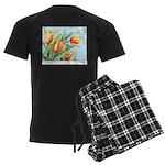 Tulips Watercolor Men's Dark Pajamas