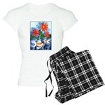 Fish and Flowers Art Women's Light Pajamas