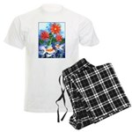 Fish and Flowers Art Men's Light Pajamas