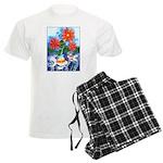 Fish and Flowers Art Men's Light Pajamas