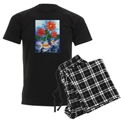 Fish and Flowers Art Pajamas