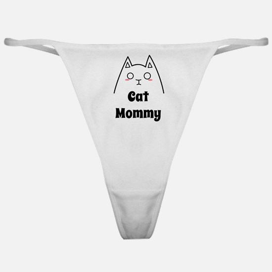 Love My Cat Mommy Classic Thong
