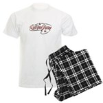 Retro Coffee Shop Men's Light Pajamas