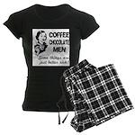 Coffee, Chocolate, Men Women's Dark Pajamas
