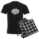 Will Work For Cappuccino Men's Dark Pajamas