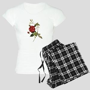 Red Rose Women's Light Pajamas