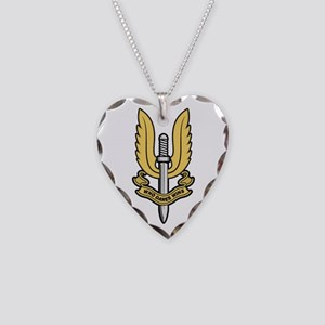Who Dares Wins Necklace Heart Charm