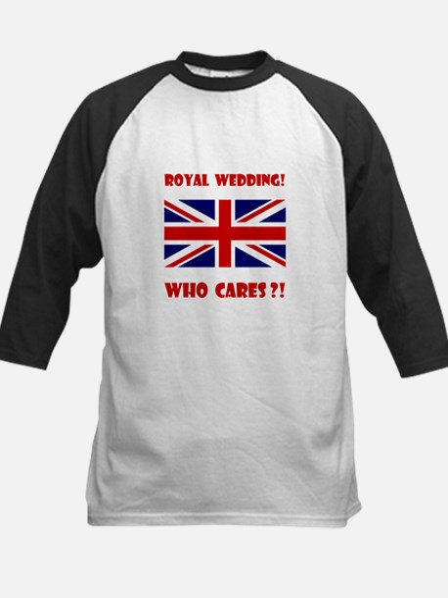 Royal Wedding! Who Cares?! Kids Baseball Jersey