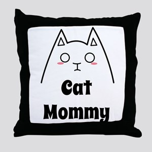 Love My Cat Mommy Throw Pillow