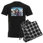 Queen of Hearts Men's Dark Pajamas