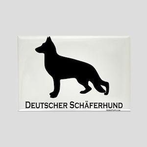 Deutscher Schaferhund Rectangle Magnet